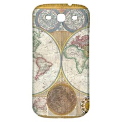 1794 World Map Samsung Galaxy S3 S Iii Classic Hardshell Back Case
