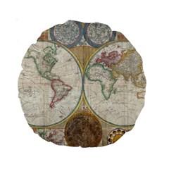 1794 World Map 15  Premium Round Cushion