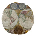 1794 World Map 18  Premium Round Cushion  Front