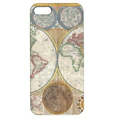 1794 World Map Apple iPhone 5 Hardshell Case with Stand