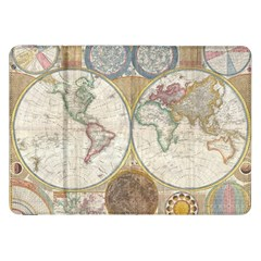 1794 World Map Samsung Galaxy Tab 8.9  P7300 Flip Case