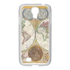 1794 World Map Samsung GALAXY S4 I9500/ I9505 Case (White)