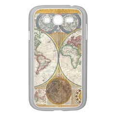1794 World Map Samsung Galaxy Grand DUOS I9082 Case (White)