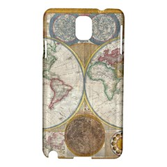 1794 World Map Samsung Galaxy Note 3 N9005 Hardshell Case