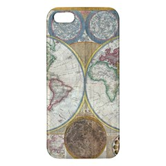 1794 World Map iPhone 5S Premium Hardshell Case
