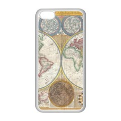 1794 World Map Apple iPhone 5C Seamless Case (White)