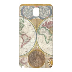 1794 World Map Samsung Galaxy Note 3 N9005 Hardshell Back Case