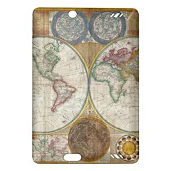 1794 World Map Kindle Fire Hd 7  (2nd Gen) Hardshell Case