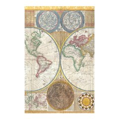 1794 World Map Shower Curtain 48  X 72  (small)