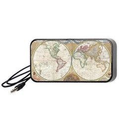 1794 World Map Portable Speaker (Black)