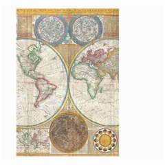 1794 World Map Small Garden Flag (Two Sides)