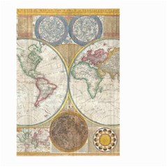 1794 World Map Large Garden Flag (Two Sides)