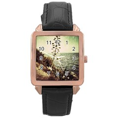 Sète Rose Gold Leather Watch