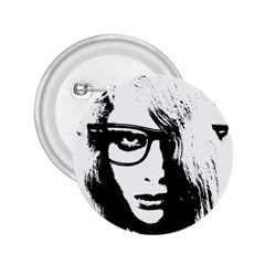 Hipster Zombie Girl 2 25  Button
