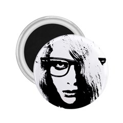 Hipster Zombie Girl 2.25  Button Magnet