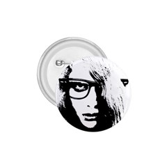 Hipster Zombie Girl 1.75  Button