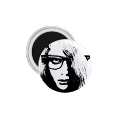 Hipster Zombie Girl 1.75  Button Magnet
