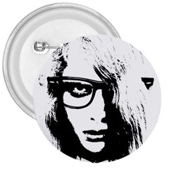 Hipster Zombie Girl 3  Button