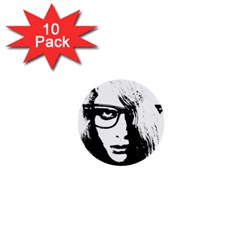 Hipster Zombie Girl 1  Mini Button (10 pack)