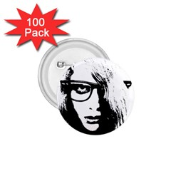 Hipster Zombie Girl 1.75  Button (100 pack)