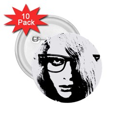 Hipster Zombie Girl 2.25  Button (10 pack)