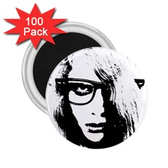 Hipster Zombie Girl 2.25  Button Magnet (100 pack)