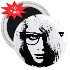 Hipster Zombie Girl 3  Button Magnet (10 pack)