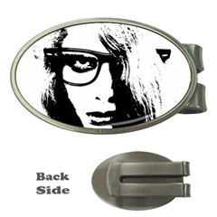 Hipster Zombie Girl Money Clip (Oval)