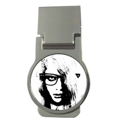 Hipster Zombie Girl Money Clip (Round)