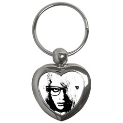 Hipster Zombie Girl Key Chain (Heart)