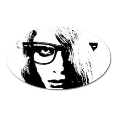 Hipster Zombie Girl Magnet (Oval)
