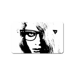 Hipster Zombie Girl Magnet (name Card)