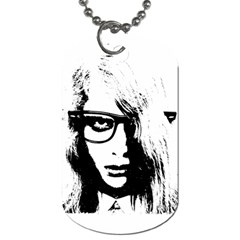 Hipster Zombie Girl Dog Tag (Two-sided)
