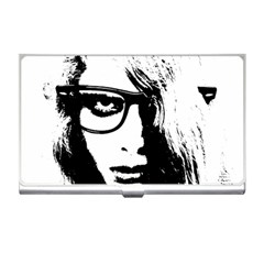 Hipster Zombie Girl Business Card Holder