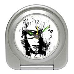 Hipster Zombie Girl Desk Alarm Clock