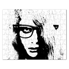 Hipster Zombie Girl Jigsaw Puzzle (Rectangle)