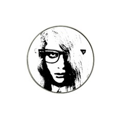 Hipster Zombie Girl Golf Ball Marker (for Hat Clip)