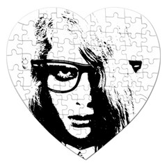 Hipster Zombie Girl Jigsaw Puzzle (Heart)