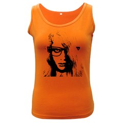 Hipster Zombie Girl Women s Tank Top (Dark Colored)