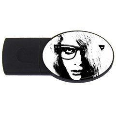 Hipster Zombie Girl 4GB USB Flash Drive (Oval)