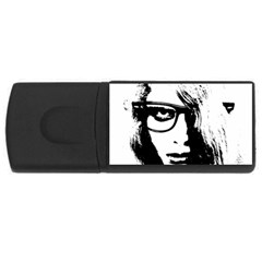 Hipster Zombie Girl 4gb Usb Flash Drive (rectangle)