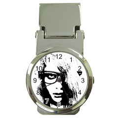 Hipster Zombie Girl Money Clip with Watch