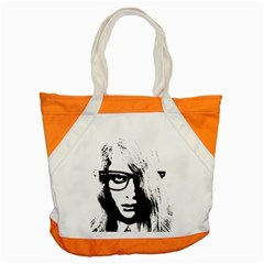 Hipster Zombie Girl Accent Tote Bag