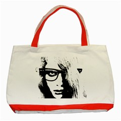 Hipster Zombie Girl Classic Tote Bag (Red)