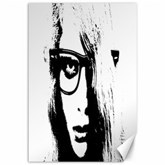 Hipster Zombie Girl Canvas 12  x 18  (Unframed)
