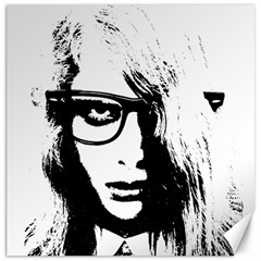 Hipster Zombie Girl Canvas 16  x 16  (Unframed)