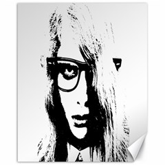 Hipster Zombie Girl Canvas 16  X 20  (unframed)
