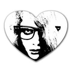 Hipster Zombie Girl Mouse Pad (heart)