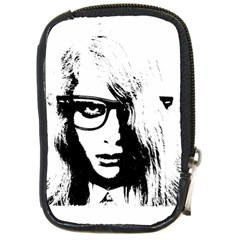 Hipster Zombie Girl Compact Camera Leather Case