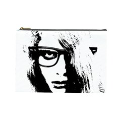 Hipster Zombie Girl Cosmetic Bag (large)